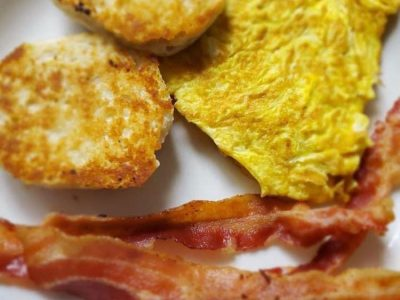 Bacon Eggs English Muffins
