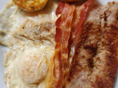 Bacon Over Easy Eggs